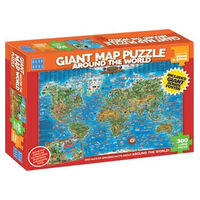 Blue Opal - Giant Around the World Map Puzzle 300pc