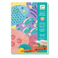 Djeco - Art by Numbers Felt Brushes Under Sea