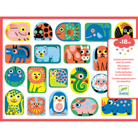 Djeco - All Shapes & Sizes Puffy Stickers