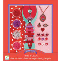 Djeco - Beads and Hearts Jewellery Set