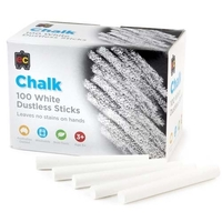 EC - Chalk Dustless White (box of 100)