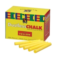 EC - Chalk Dustless Yellow (box of 100)