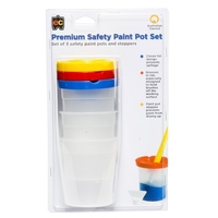 EC - Premium Safety Paint Pots with Stoppers (3 pack)