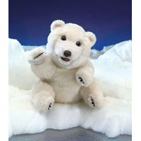 Folkmanis - Sitting Polar Bear Puppet