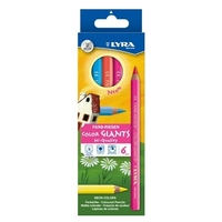 Lyra - Coloured Giants Neon Pencils (6 pack)
