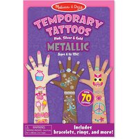 Melissa & Doug - Temporary Tattoos - Metallic