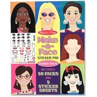 Melissa & Doug - Make-a-Face Sticker Pad Fashion Faces