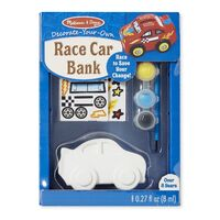 Melissa & Doug - Decorate-Your-Own Race Car Bank