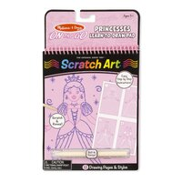 Melissa & Doug - On The Go - Scratch Art Learn-to-Draw - Princesses