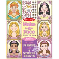 Melissa & Doug - Make-a-Face - Sparkling Princesses Sticker Pad