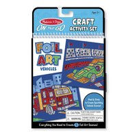Melissa & Doug - On The Go - Foil Art - Vehicles