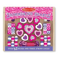 Melissa & Doug - Shimmering Hearts Wooden Bead Set