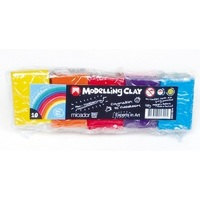 Micador Modelling Clay, 10 assorted colours, 500gm