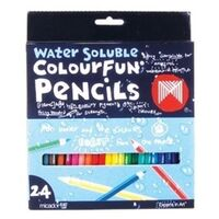 Micador - Colourfun Water Soluble Pencils (24 pack)