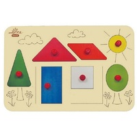 Andzee - Shape House Peg Puzzle 7pc