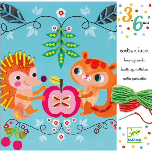 Djeco - Friends Lace Up Cards