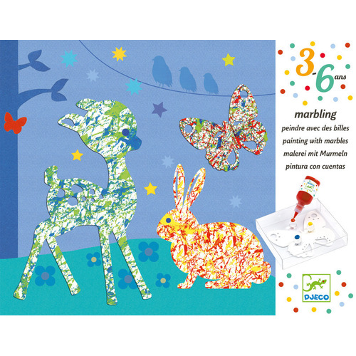 Djeco - Painting with Marbles Kit