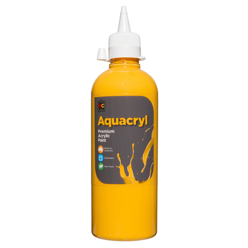 EC - Aquacryl Student Acrylic Paint 500ml Warm Yellow