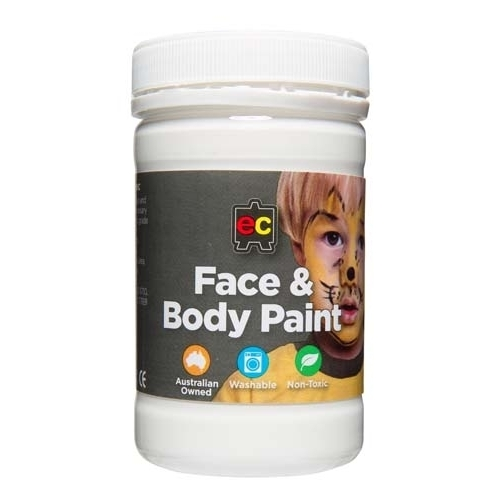 Face & Body Paint 175ml Jar   White