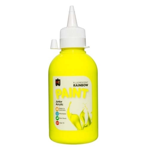 EC - Rainbow Fluorescent Paint 250ml Yellow