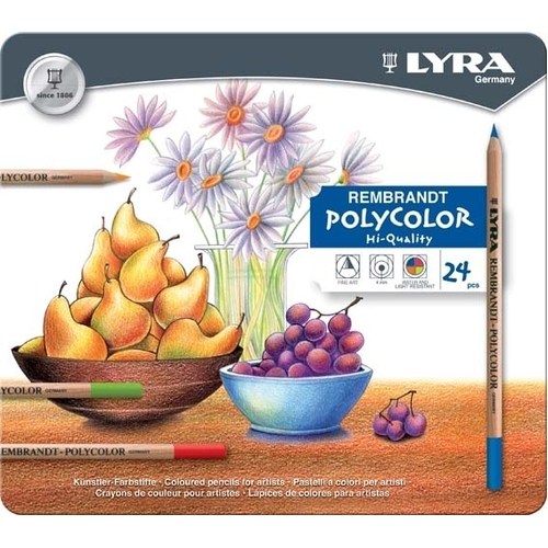 Lyra - Rembrandt Polycolor Coloured Pencils (tin of 24)