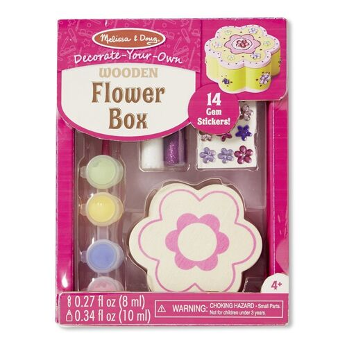 Melissa & Doug - Decorate-Your-Own Wooden Flower Box