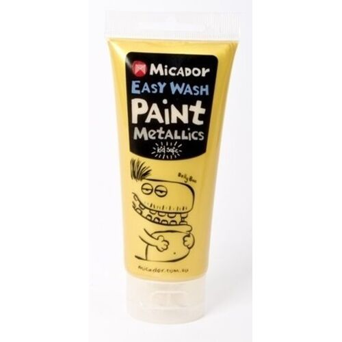 Micador - Easy Wash Paint - Metallic Gold,120ml